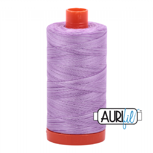 Aurifil 50wt Cotton Thread, 1422yds/1300Mt, Variegated, French Lilac, 3840